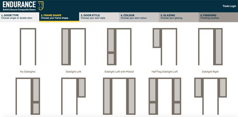 Bartley Glass Composite Door Design Frame Shape 2